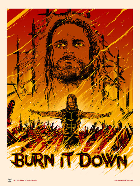 "Barry Blankenship ""Burn It Down"" Print"