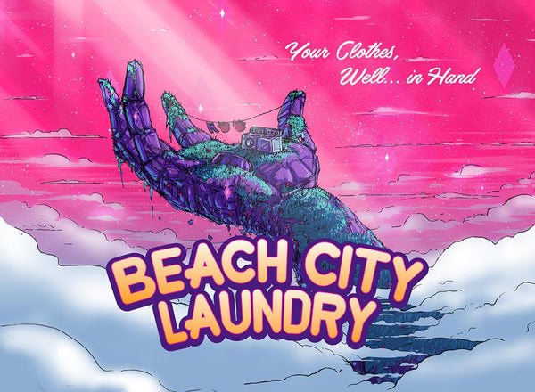 "Barry Blankenship ""Beach City Laundry"" Postcard Print"