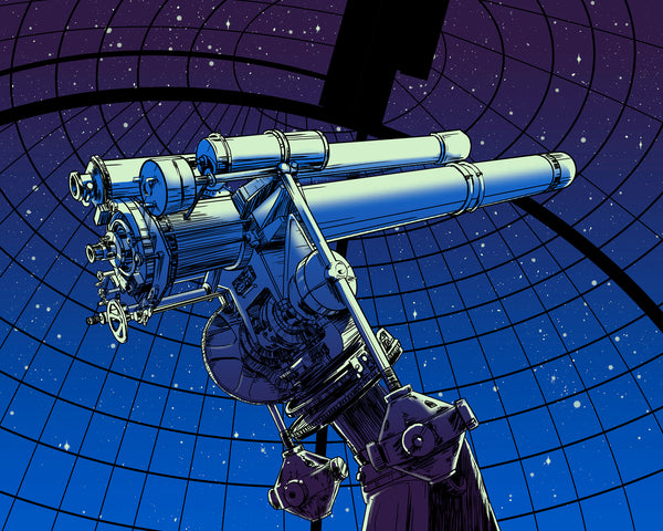 "Barry Blankenship ""Telescope to the Stars"" Print"