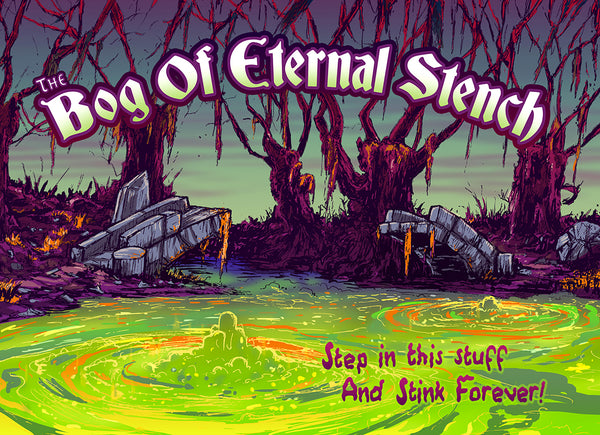 "Barry Blankenship ""The Bog of Eternal Stench"" Postcard Print"