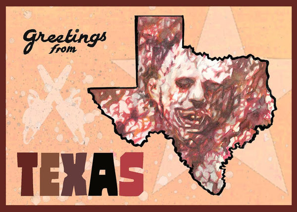 "Beau Berkley ""Greetings from Texas"" Postcard Print"
