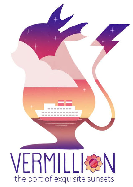 "Betsy Bauer ""Vermillion City"" Postcard Print"