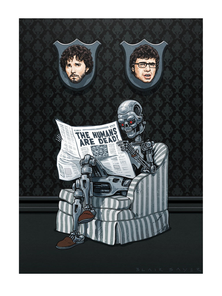 "Blair Sayer ""Plight of the Conchords"" Print"