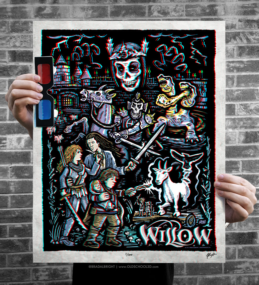 "Brad Albright ""Willow… in 3D! (3D Poster with Glasses)"" Print"