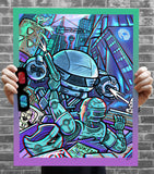 "Brad Albright ""Robocop vs ED209 - 3D Poster + Glasses"" Print"