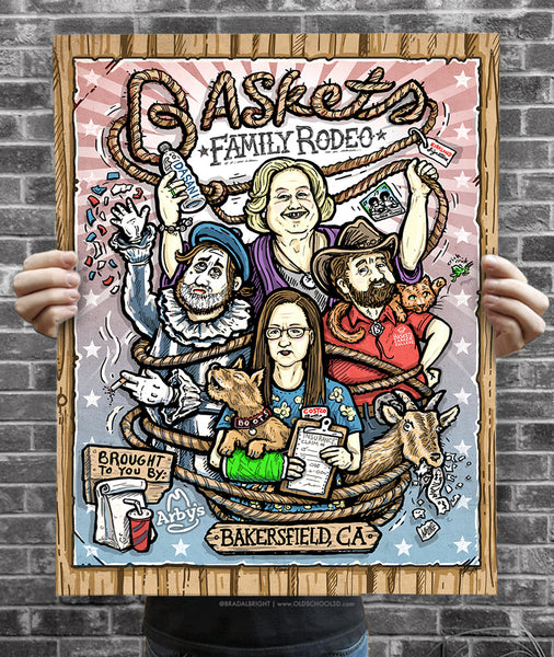 "Brad Albright ""Baskets Family Rodeo"" Print"