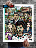 "Brad Albright ""Welcome to Schitt's Creek - 3D Poster + Glasses"" Print"
