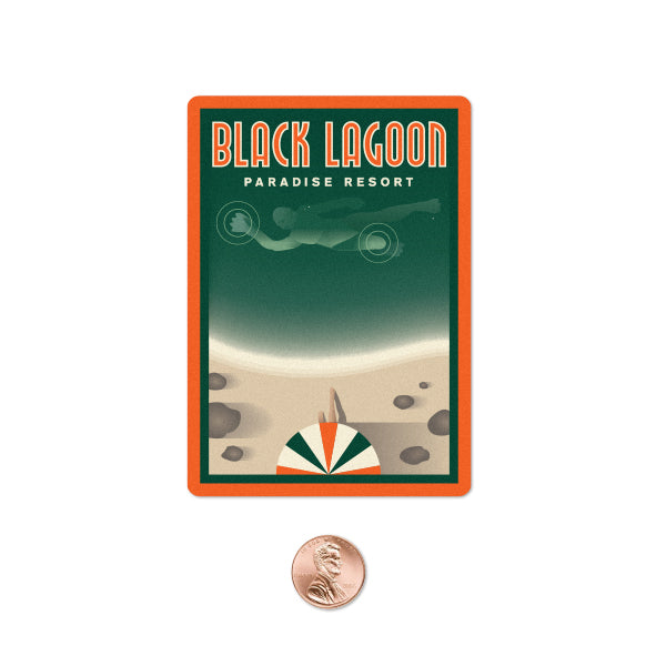 "Clark Orr ""Black Lagoon Paradise Resort"" Sticker"