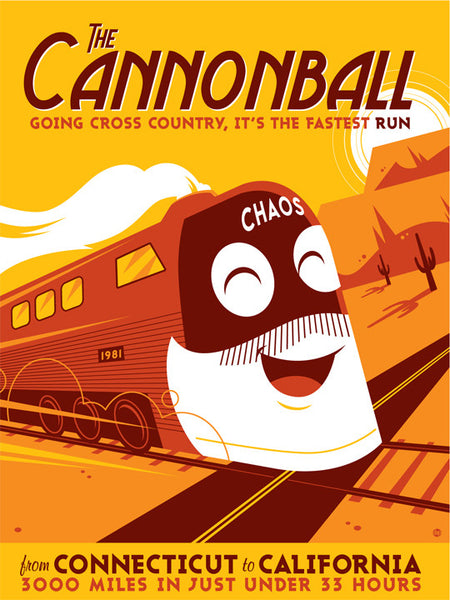 "Dave Perillo ""The Cannonball"" Print"