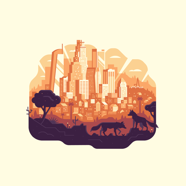 "Canopy ""Los Angeles"" Print"