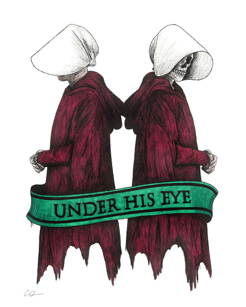 "Carrie Anne Hudson ""Under His Eye"" Print"