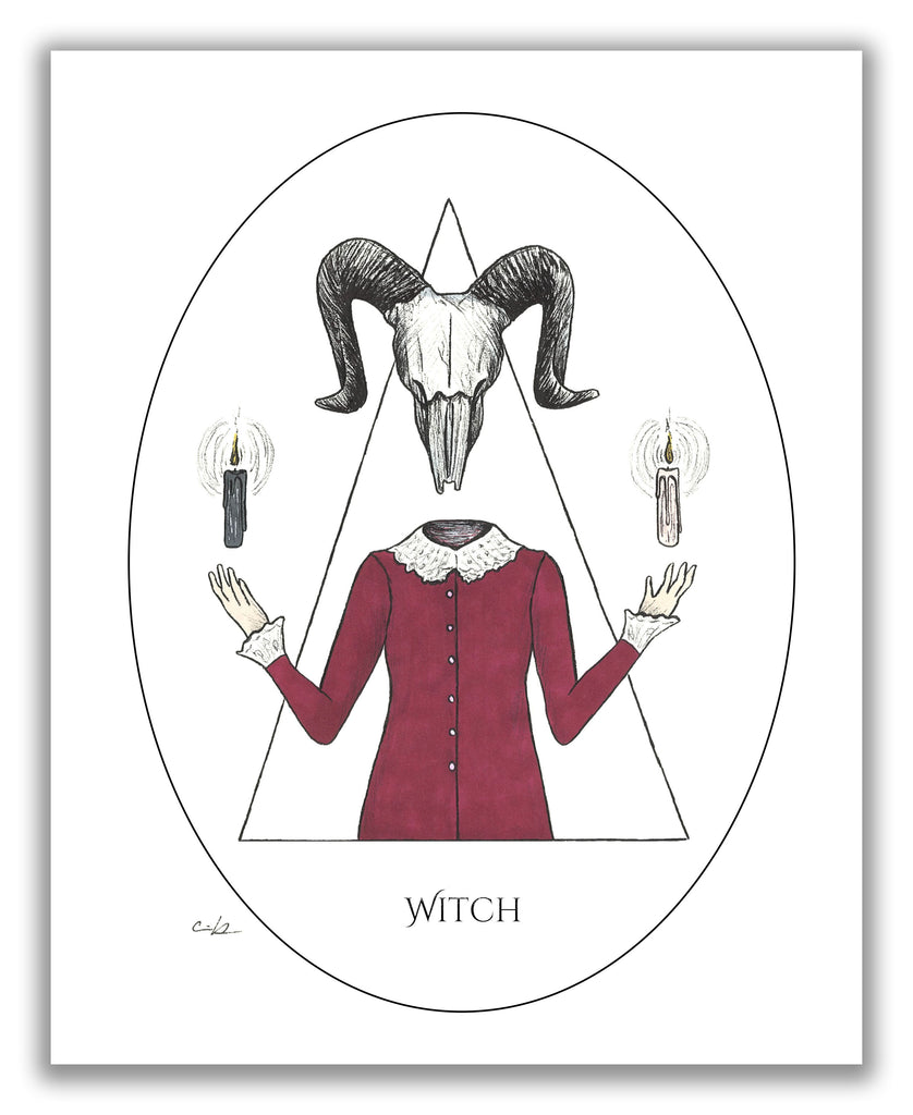 "Carrie Anne Hudson ""Witch"" Print"