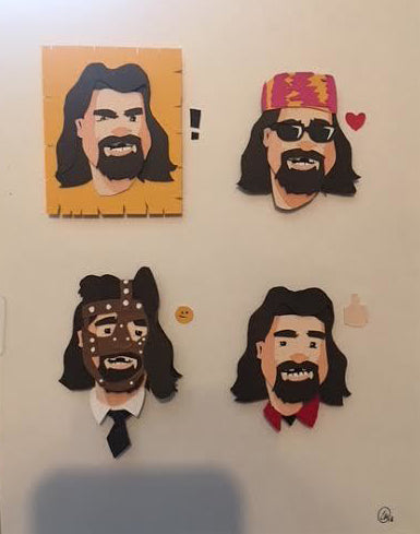 "Charles Thurston ""The many faces of Foley"" Print"