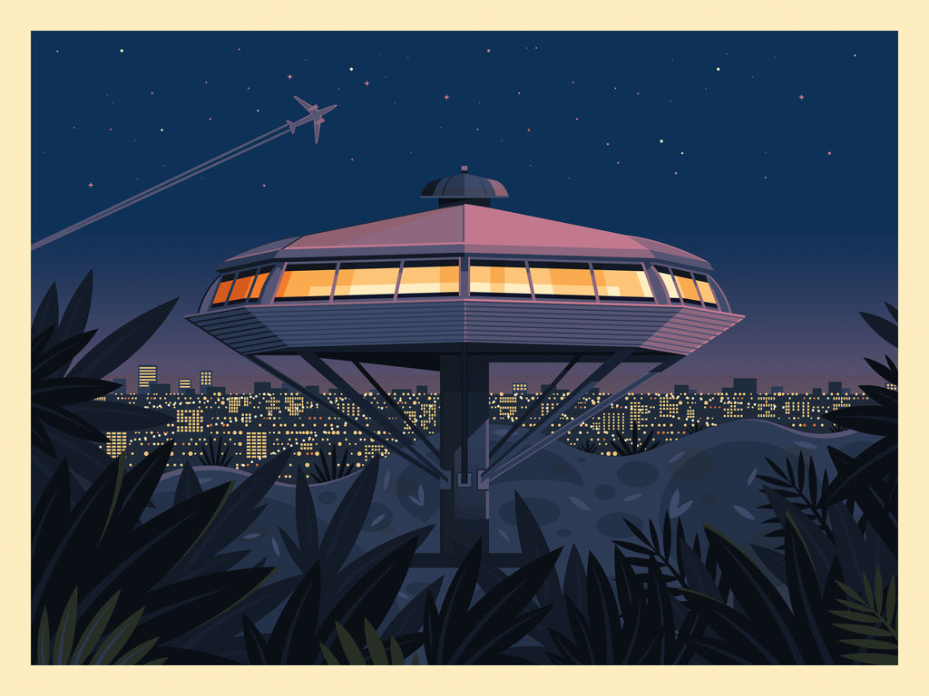 "George Townley ""Chemosphere at Night"" Print"