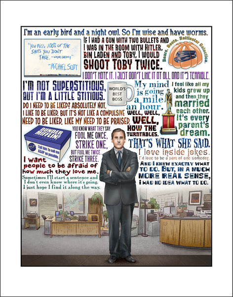 "Chet Phillips ""World's Best Boss"" Print"
