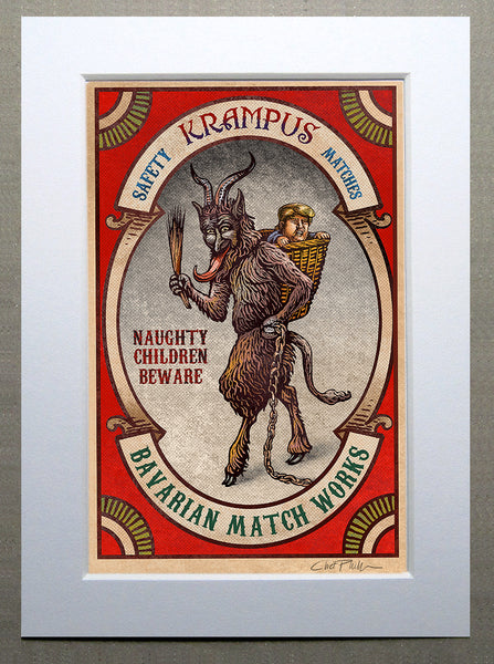 "Chet Phillips ""Krampus Matchbox"" Small Print"