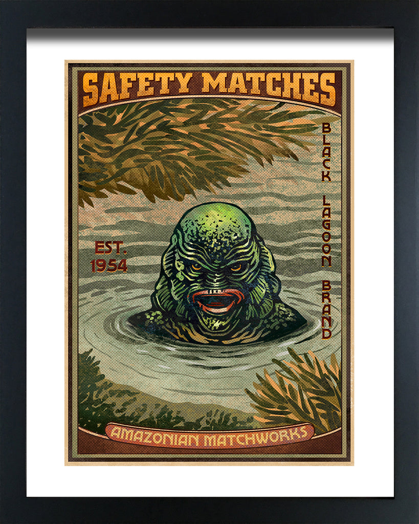 "Chet Phillips ""Black Lagoon"" Framed Print"