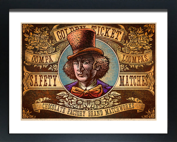 "Chet Phillips ""Golden Ticket"" Framed Print"