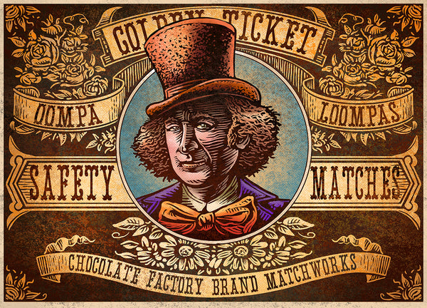 "Chet Phillips ""Golden Ticket"" Print"