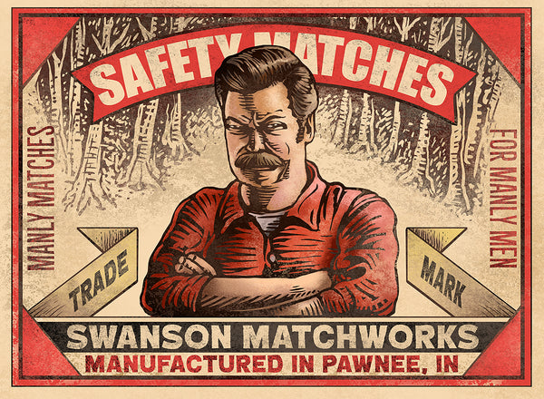 "Chet Phillips ""Manly Matches"" Print"