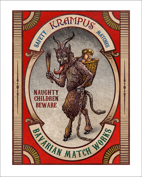 "Chet Phillips ""Krampus Matchbox"" Print"