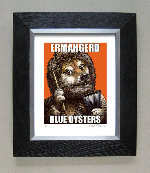 "Chet Phillips ""Blue Oysters"" Framed Print"