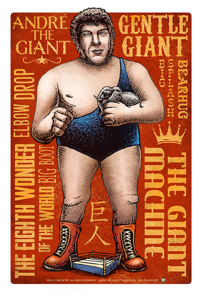 "Chet Phillips ""Andre the Giant"" Print"
