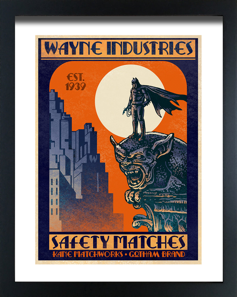 "Chet Phillips ""Wayne Industries"" Framed Print"