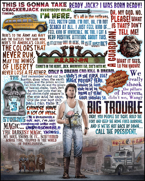 "Chet Phillips ""Big Trouble"" Print"