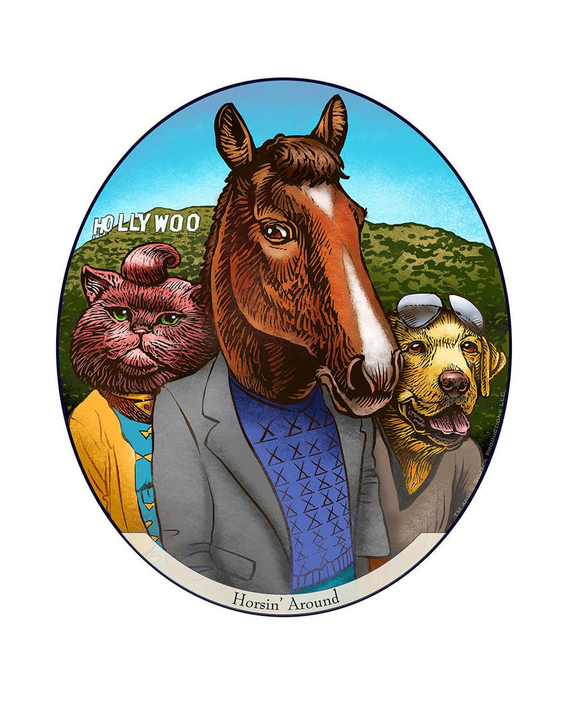 "Chet Phillips ""Horsin' Around"" Print"
