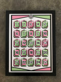 "Austin Gilmore ""25 Days of Christmas Advent Calendar"" Framed Print"