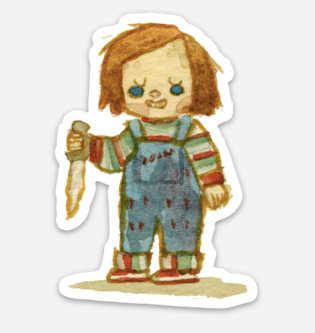 ".Scott C. ""Chucky Showdown"" Sticker"