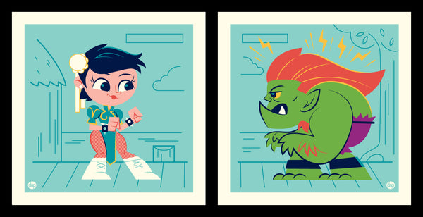 "Dave Perillo ""Chun Vs Jimmy"" Print Set"