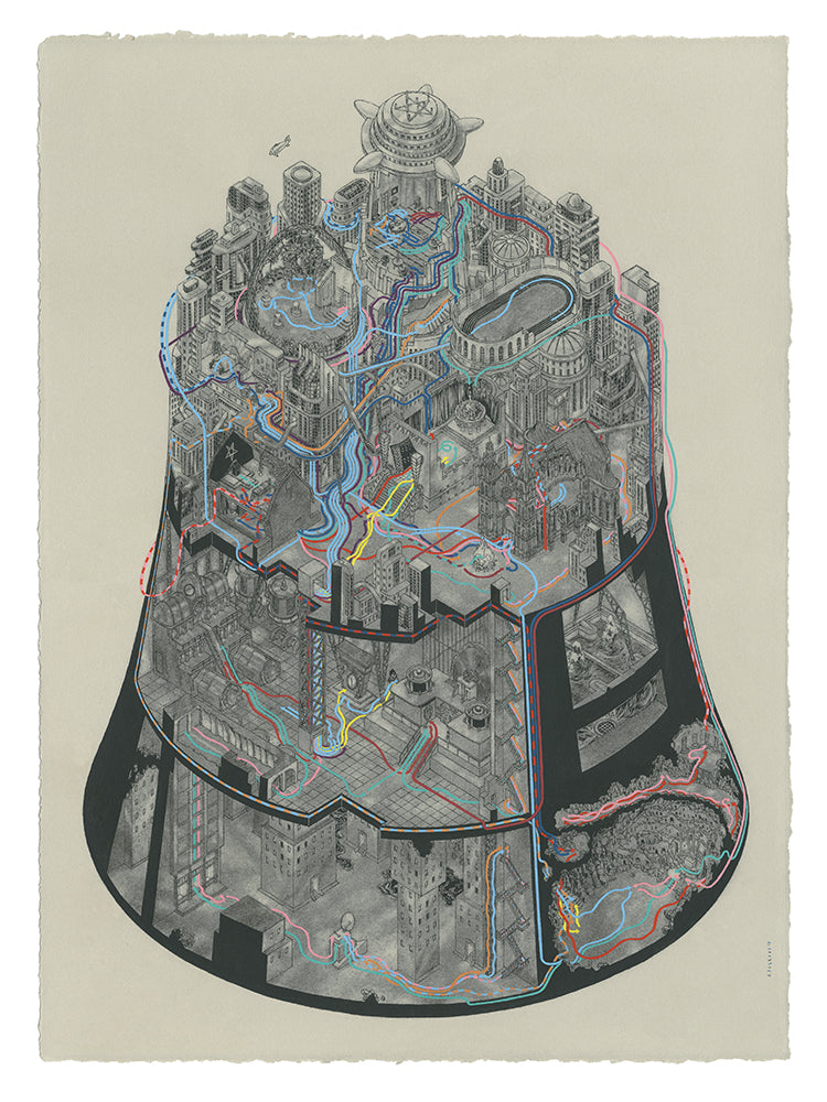 "Andrew DeGraff ""Paths of Metropolis"" Print"