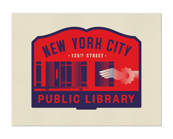 "Clark Orr ""NYC Public Library"" Print"