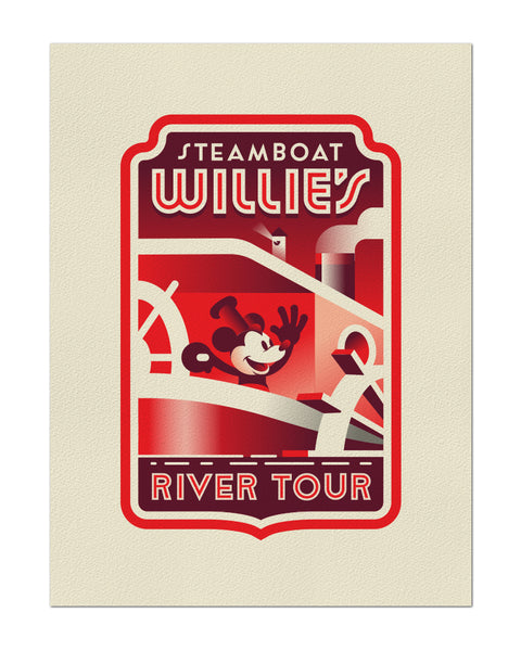 "Clark Orr ""Steamboat Willie River Tour"" Print"