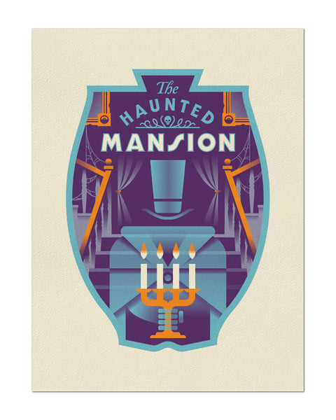 "Clark Orr ""The Haunted Mansion"" Print"