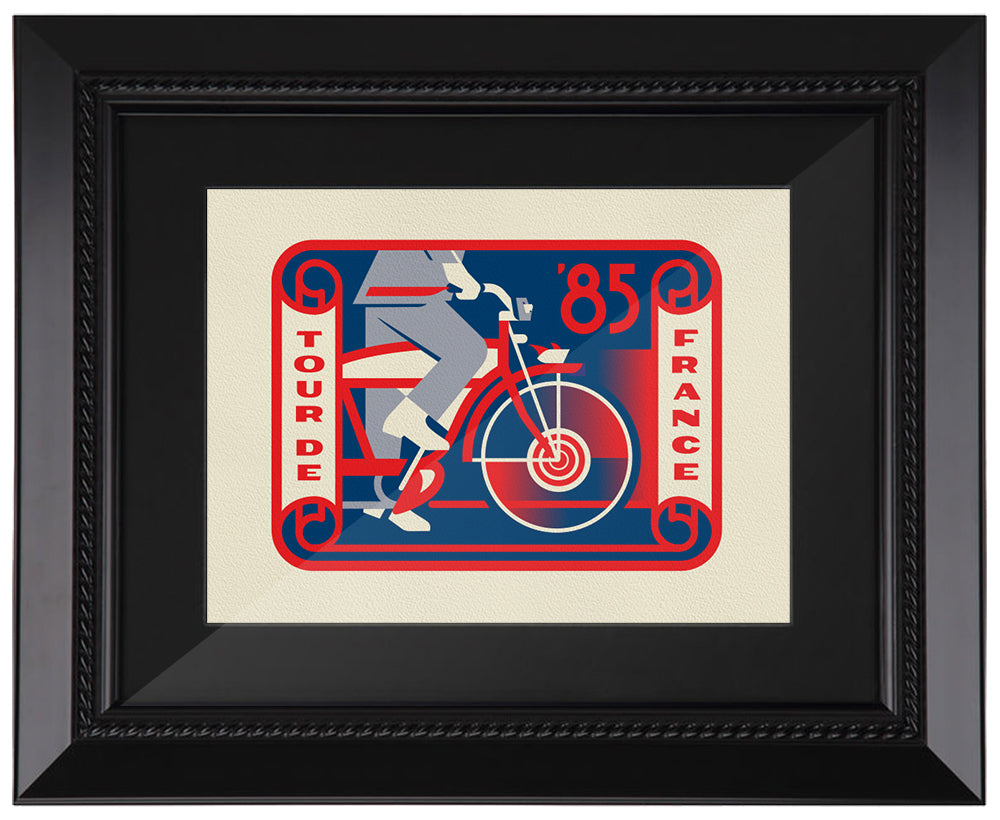 "Clark Orr ""Tour De France"" Framed Print"