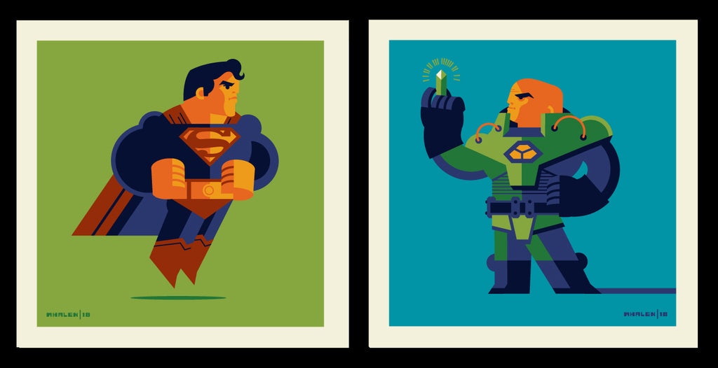 "Tom Whalen ""Clark Vs Lex"" Print Set"