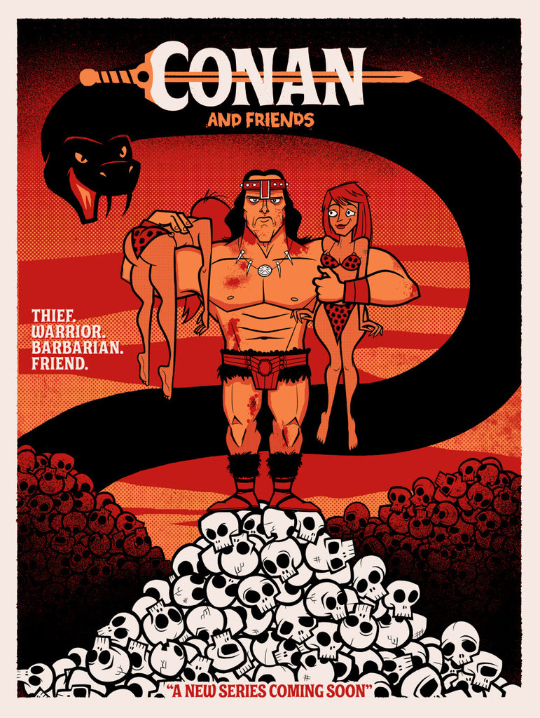 "Justin White ""Conan & Friends"" Print"