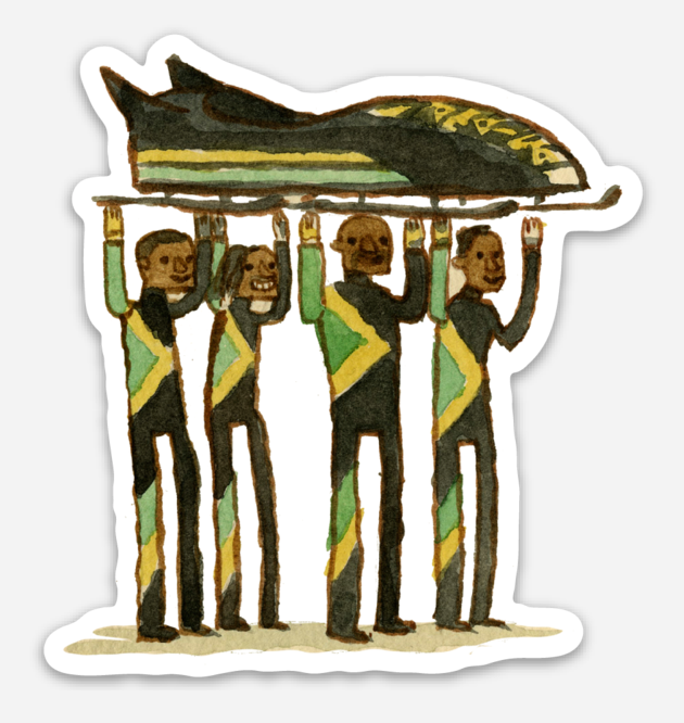 ".Scott C. ""Cool Runnings Showdown"" Sticker"