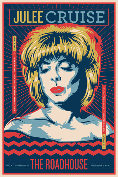 "Jeffrey Everett / Rockets Are Red ""Julee Cruise"" Print"
