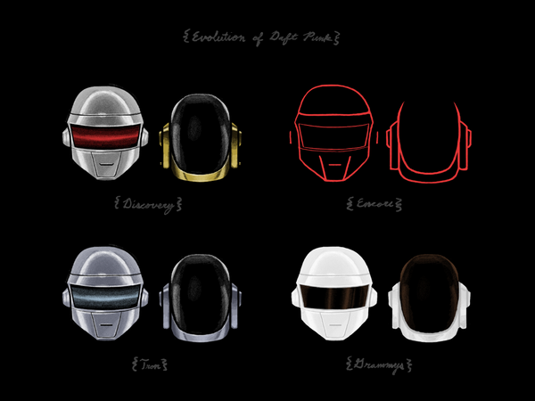 "Joe Van Wetering ""Evolution of Daft Punk"" Print"