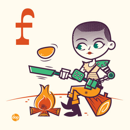 "Dave Perillo ""F is for Flipping Flapjacks"" Print"