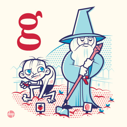 "Dave Perillo ""G is for Gleefully Gardening"" Print"