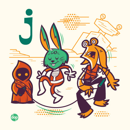 "Dave Perillo ""J is for Jumping Jumprope"" Print"