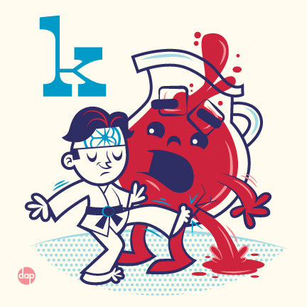 "Dave Perillo ""K is for Karate Kicking"" Print"