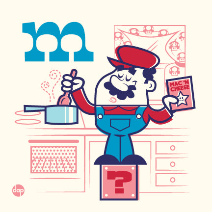 "Dave Perillo ""M is for Making Macaroni"" Print"