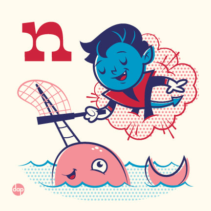 "Dave Perillo ""N is for Netting Narwhals"" Print"