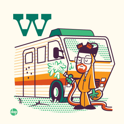"Dave Perillo ""W is for Washing Winnebagos"" Print"